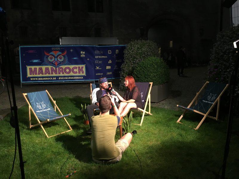 Sofie Engelen van Studio Brussel op Maanrock